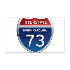 NC Interstate 73 Rectangle Car Magnet