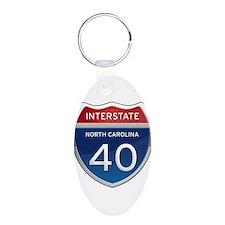 NC Interstate 40 Keychains