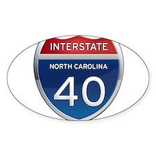 NC Interstate 40 Decal