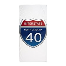 NC Interstate 40 Beach Towel