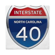 NC Interstate 40 Queen Duvet