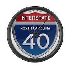 NC Interstate 40 Large Wall Clock