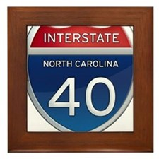 NC Interstate 40 Framed Tile