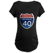 NC Interstate 40 Maternity T-Shirt