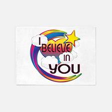 I Believe In You Cute Believer Design 5'x7'Area Ru