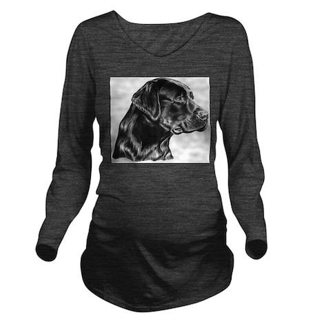 Black Lab Long Sleeve Maternity T-Shirt