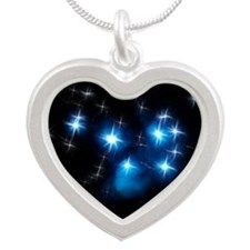 Pleiades Blue Star Cluster Necklaces