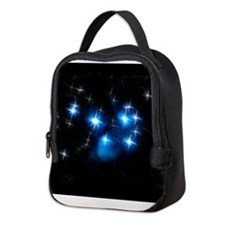 Pleiades Blue Star Cluster Neoprene Lunch Bag