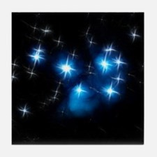 Pleiades Blue Star Cluster Tile Coaster