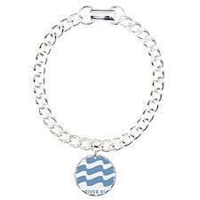 TRR logo lt blue Charm Bracelet, One Charm