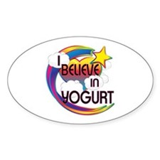 I Believe In Yogurt Cute Believer Design Decal