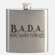 BADA Bikers Against Dumbasses Flask