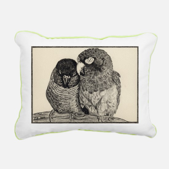 Conure Love Rectangular Canvas Pillow