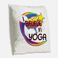 I Believe In Yoga Cute Believer Design Burlap Thro