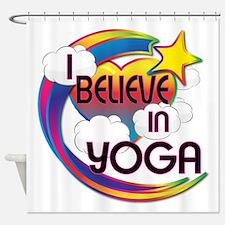 I Believe In Yoga Cute Believer Design Shower Curt