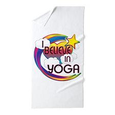 I Believe In Yoga Cute Believer Design Beach Towel