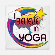I Believe In Yoga Cute Believer Design Queen Duvet