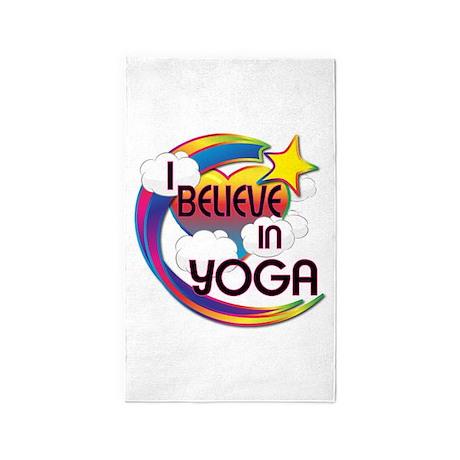 I Believe In Yoga Cute Believer Design 3'x5' Area