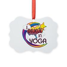 I Believe In Yoga Cute Believer Design Ornament