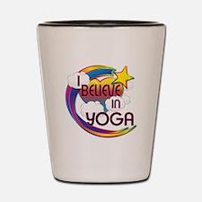 I Believe In Yoga Cute Believer Design Shot Glass