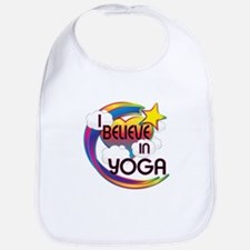 I Believe In Yoga Cute Believer Design Bib