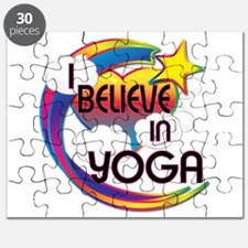 I Believe In Yoga Cute Believer Design Puzzle