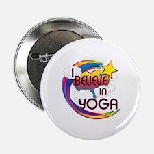 """I Believe In Yoga Cute Believer Design 2.25"""" Butto"""