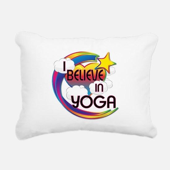 I Believe In Yoga Cute Believer Design Rectangular