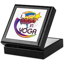 I Believe In Yoga Cute Believer Design Keepsake Bo