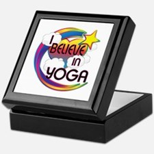 I Believe In Yoga Cute Believer Design Keepsake Bo