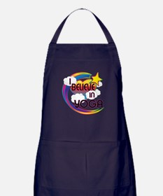 I Believe In Yoga Cute Believer Design Apron (dark