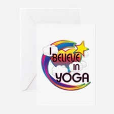 I Believe In Yoga Cute Believer Design Greeting Ca
