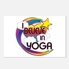 I Believe In Yoga Cute Believer Design Postcards (