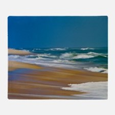 Cape Hatteras Ocean Blur Throw Blanket