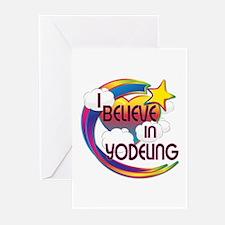 I Believe In Yodeling Cute Believer Design Greetin