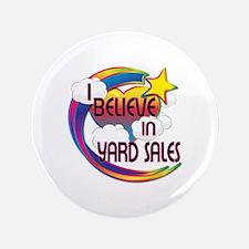 """I Believe In Yard Sales Cute Believer Design 3.5"""""""