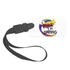 I Believe In Writing Cute Believer Design Luggage Tag