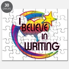 I Believe In Writing Cute Believer Design Puzzle