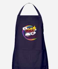 I Believe In Writing Cute Believer Design Apron (d