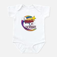 I Believe In Wombats Cute Believer Design Infant B