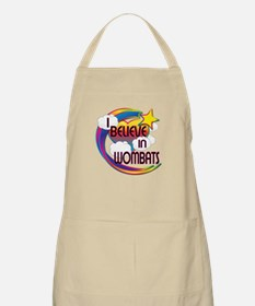 I Believe In Wombats Cute Believer Design Apron