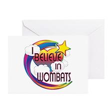 I Believe In Wombats Cute Believer Design Greeting