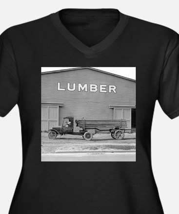 Early Ford Tractor Trailer Plus Size T-Shirt