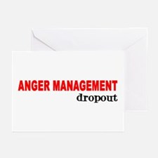 ANGER MANAGEMENT DROPOUT Greeting Cards (Package o