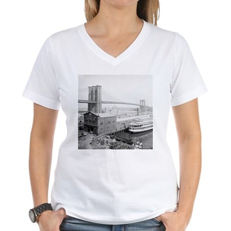 Brooklyn Bridge and Docks T-Shirt