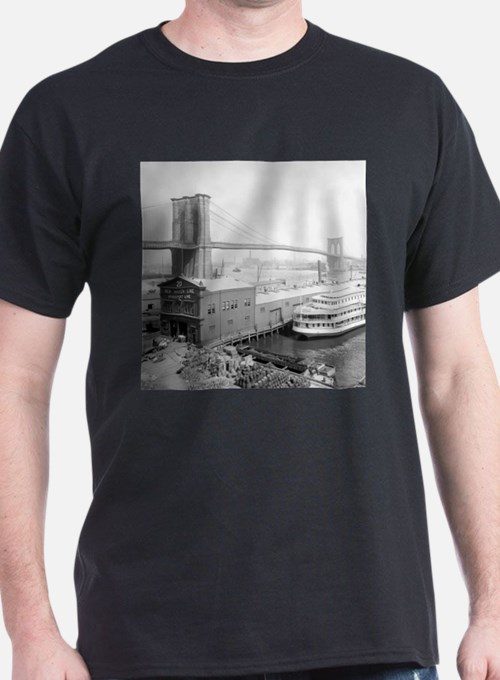 Brooklyn Bridge and Docks T-Shirt