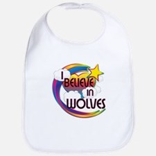 I Believe In Wolves Cute Believer Design Bib