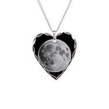 Full Moon Lunar Globe Necklace