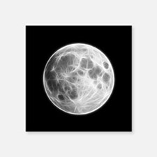 Full Moon Lunar Globe Sticker