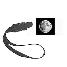 Full Moon Lunar Globe Luggage Tag
